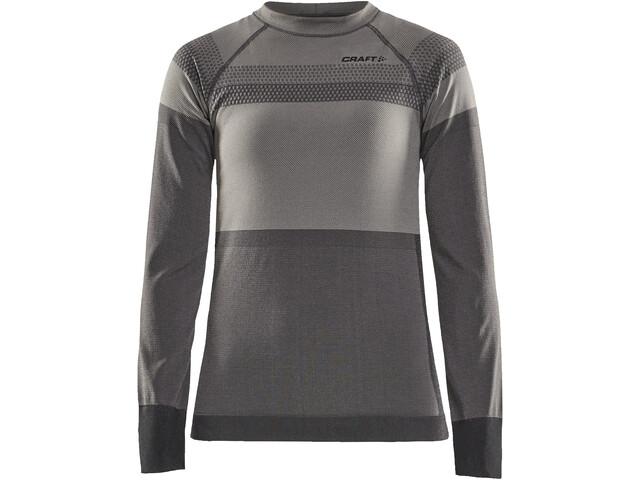 Craft Warm Intensity T-shirt Manches longues Col ras-du-cou Femme, touch/asphalt